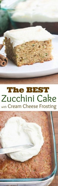Zucchini Cake with Cream Cheese Frosting | Recipe