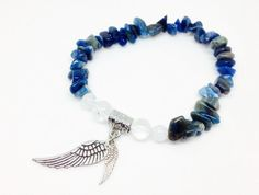 Kyanite is a very powerful conductor stone. It's gorgeous blue, brown and slightly green tones clear away old mental and emotional blocks, allowing for new perspectives. https://www.etsy.com/listing/290443605/kyanite-bracelet-angel-wing-bracelet Kyanite Bracelet, Angel Wing Bracelet, Angel Bracelet, Crystal Bracelet, Reiki Jewelry, Kyanite Jewelry, Stretch Bracelet, Spiritual Gifts