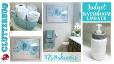 5 Decorating Tips to Update your Bathroom on a Budget Small Bathroom Organization, Budget Bathroom, Bathroom Ideas, Home Repairs, Basement Remodeling, House Remodeling, Remodeling Ideas, Diy On A Budget, Home Improvement Projects