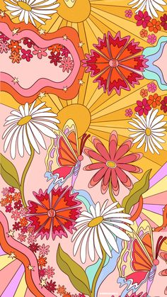 Groovy Colorful iPhone Wallpaper 🌼✨