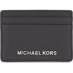 MICHAEL MICHAEL KORS Jet Set Travel card holder (390 NOK) ❤ liked on Polyvore featuring bags, wallets, card case wallet, michael michael kors wallet, leather wallet, credit card holder wallet and travel bag