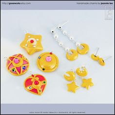 Sailor Moon Charms + Jewelry by junosama.deviantart.com on @deviantART
