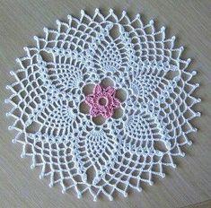 best ideas for crochet gloves flower Mandala Au Crochet, Col Crochet, Free Crochet Doily Patterns, Crochet Doily Diagram, Crochet Dollies, Crochet Circles, Thread Crochet, Filet Crochet, Crochet Motif