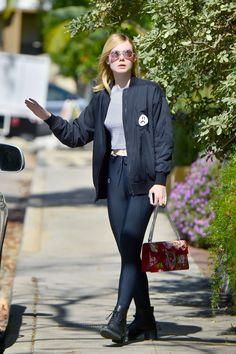 Elle Fanning Street Style - Out in Studio City 02/09/2016