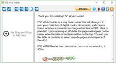 FSS ePub Reader 1.0.5.5  FSS ePub Reader--起動時の画面--オールフリーソフト