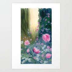 Awakening Art Print by Spring Awakening, Handmade Flowers, Tapestry, Hands, Art Prints, How To Make, Crafts, Painting, Hanging Tapestry
