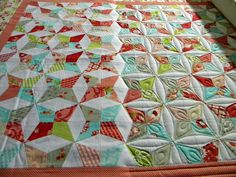 It's so interesting to see the effects quilting can have on the overall look and design of a quilt!  - Sew Kind Of Wonderful: Before and After Quilting