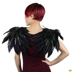 Crow Feather Wings - Black  SHOP FEATHERS: www.featherplace.com/feather-products/wings.html