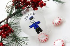 Police Officer Christmas Ornament - $10
