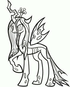 Mlp Printable Coloring Pages Throughout Queen Chrysalis And
