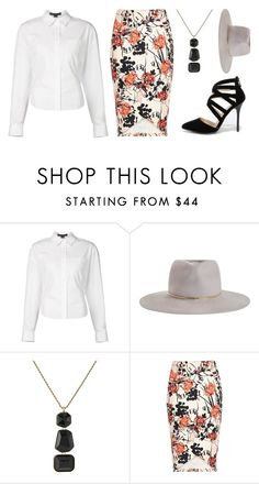 """""""Pencil Skirt"""" by l4lifel ❤ liked on Polyvore featuring Alexander Wang, Zimmermann, Kenneth Jay Lane, River Island, Anne Michelle, women's clothing, women's fashion, women, female and woman"""