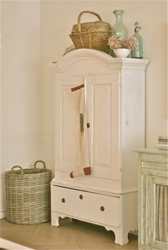 China Cabinet with Sock Cute Whitewashed chippy shabby chic french country rustic swedish decor Idea