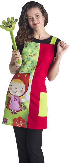 € 29,90 - Estola Maestra Caperucita - ES7402 Teacher Apron, Cute Aprons, Kitchen Aprons, Dress Patterns, Cool Kids, Really Cool Stuff, Sewing Projects, Sari, Fashion Outfits