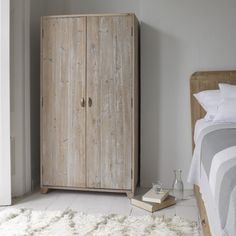 "HONNEY BUNNY WARDROBE This would have traditionally been referred to as a ""gentleman's wardrobe."" All we know is that it is cute as hell and brilliant both for grown-ups and kids alike. A real space-saver. #wardrobe #bedroom #furniture"