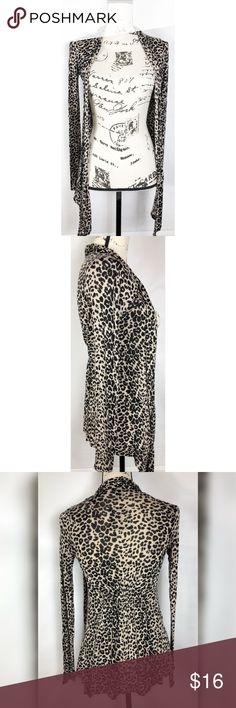 Wet Seal Cheetah Cardigan Size XS Beautiful Wet Seal Cheetah cardigan ❤️Super soft, light weight and stretchy. Excellent Condition. Perfect for any wardrobe. Size XS.  Make this ☝🏾️treasure yours today ☺️. Don't be scared  to make an offer, you never know unless you try. Bundle multiple items for the best savings. Pay one low price  shipping 🎁! Thanks for stepping into my closet  😘 Wet Seal Sweaters Cardigans