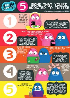 Five Signs That You're Addicted to Twitter! | Googly Gooeys