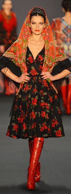 Lena Hoschek A/W13-14 - Austrian Designer who mixes tradition with modern design for charming results.