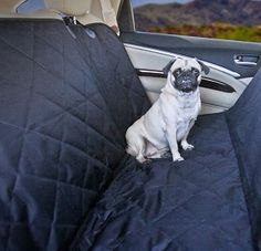 Devoted Doggy Premium Dog Rear Seat Cover - protect your car seats and also give your dog a comfortable ride with this quilted and padded dog seat cover for your car.