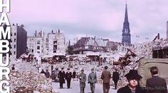 Fahrt durch Hamburg im Jahre 1945 in Farbe von Hamburg Channel auf YouTube (2:44 Min)