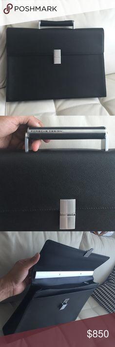 Porsche Design briefcase 100% genuine Porsche Design briefcase 100%genuine leather like new Porsche Design Accessories