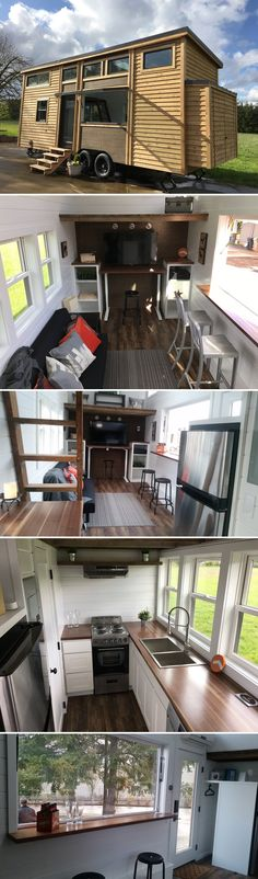 A 26' tiny house featuring integrated smart home LED lighting, heating, and security -- all controllable via your smartphone.