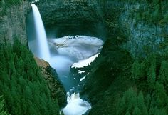 Helmcken Falls is a 141 m (463 ft) waterfall on the Murtle River within Wells Gray Provincial Park in British Columbia, Canada