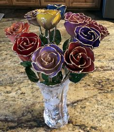 What do customers like best about Gold Dipped Roses? How To Trim Roses, Silver Dip, Rose Stem, 25th Wedding Anniversary, Crystal Vase, Lavender Fields, Gold Dipped, Stained Glass Art, Sentimental Gifts