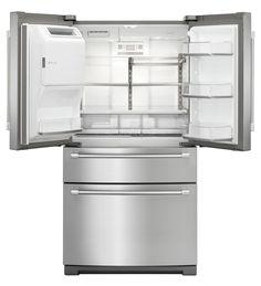 4-Door French Door Refrigerator with Steel Shelves