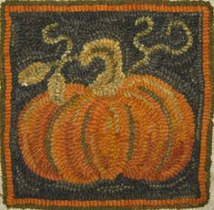 Who would design and hook a pumpkin mat in winter - well, look no further! I am ahead of the game this year - makes NO sense to hook this in the fall when I actually want to USE it. So, since I had a request for a new small pumpkin mat I hooked this… Rug Hooking Designs, Rug Hooking Patterns, Wooly Bully, Hook Punch, Punch Needle Patterns, Latch Hook Rugs, Rug Inspiration, Hand Hooked Rugs, Wool Art