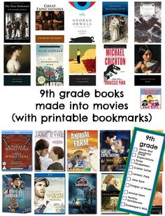 Over 100 books made into movies to enjoy with your family Books made into movie by grade level The Scarlet Letter, The Three Musketeers, Great Books To Read, Great Expectations, Homeschool High School, George Orwell, Reading Strategies, Lettering, Writing