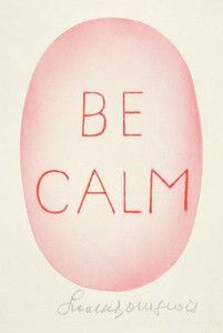 Image of Affiche Be calm