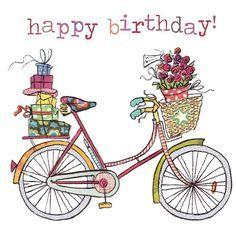 Illustrazione - bicycle - happy birthday - Happy New Year 2019 Happy Birthday Pictures, Happy Birthday Quotes, Happy Birthday Greetings, Birthday Messages, Birthday Images, Birthday Clips, Art Birthday, Bday Cards, Birthday Greeting Cards