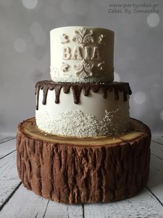 Tree Stump Cake For my daughter's teacher by Samantha Potter
