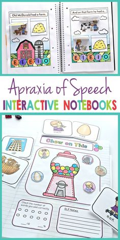 Apraxia of Speech Interactive Notebook Bundle- Use this Bundle with your preschool, Kindergarten, or grade students. It's great for special education OR speech therapy teachers. Preschool Speech Therapy, Speech Therapy Activities, Preschool Themes, Language Activities, Preschool Kindergarten, Playgroup Activities, Articulation Therapy, Speech Language Therapy, Speech Language Pathology