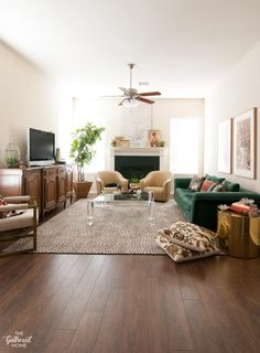 furniture a living rooms Secret Project REVEAL: DIY Laminate Flooring with Select Surfaces! Walnut Laminate Flooring, Laminate Furniture, Walnut Furniture, Walnut Floors, Linoleum Flooring, Living Room Furniture, Wood Flooring, Penny Flooring, Ceramic Flooring
