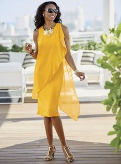 Gigi Dress - Asymmetric mesh overlay for an urban vibe. Cute Formal Dresses, Elegant Dresses, Formal Gowns, Mother Of Groom Dresses, Mothers Dresses, Gigi Dress, New Dress, Urban Outfits, Stylish Outfits