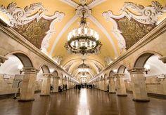 Komsomolskaya metro station. Photo trinova.ru #friendlylocalguides #metrotoursmoscow #moscowguides Moscow Metro, Portrait, Most Beautiful, Tours, Mansions, House Styles, World, Tattoo, Photos