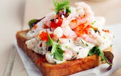 The Food Coma Corner: Toast Skagen a Scrumptious Swedish Sandwich Prawn Toast Recipe, Shrimp Toast, Avocado Dressing, Skagen, Best Appetizers Ever, Sandwiches, Finnish Recipes, Bread Toast, Scandinavian Food