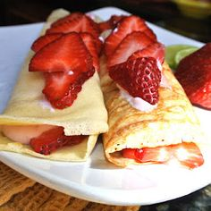 Gluten Free Strawberry Crepes