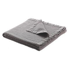 CARSON Grey textured throw | Buy now at Habitat UK
