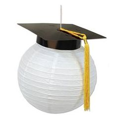 Complete your graduation party decor with our Grad Cap Paper Lanterns. These Grad Cap Paper Lanterns feature a black mortarboard with a yellow tassel. Outdoor Graduation Parties, Graduation Party Centerpieces, Graduation Party Planning, College Graduation Parties, Graduation Party Supplies, Graduation Decorations, Graduation Party Decor, Grad Parties, Graduation Ideas