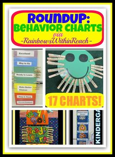 Behavior Charts in the Classroom (Behavior Chart RoundUP via RainbowsWithinReach)