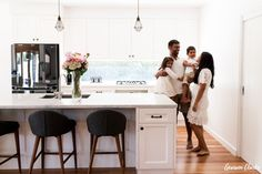Hanging out in the kitchen with this lovely family in these Lifestyle Photos at Home