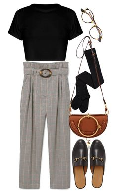 """Untitled #11186"" by nikka-phillips ❤ liked on Polyvore featuring Christian Dior, MANGO, Chloé and Gucci"