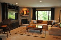 Living Room with Fireplace That will Warm You All Winter #livingroom #fireplace #warm #winter