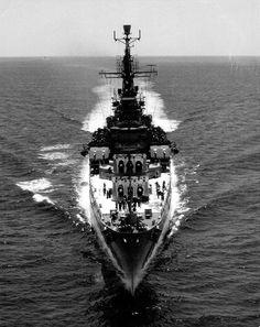 USS Saint Paul off Yokosuka Japan 21 May 1966.