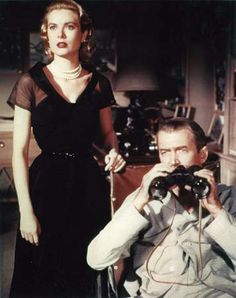 Grace Kelly and Jimmy Stewart in Rear Window