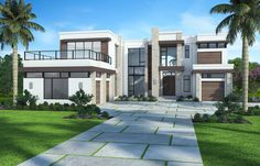 The wonderful Plan Marvelous Contemporary House Plan With Options With Amazing Modern Mansion Exterior photo below, is segment of … Luxury Homes Dream Houses, Luxury House Plans, Dream House Plans, Dream Homes, Luxury Modern Homes, Contemporary House Plans, Modern House Design, Midcentury Modern House Plans, Modern House Floor Plans
