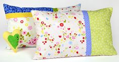 Colorful quilted cushions