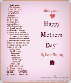 8 Best Happy Mothers Fathers Day Images On Pinterest Happy Mother